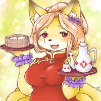 ★給仕の狐サンゴ-200