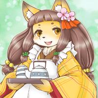 ★給仕の狐コハク-200